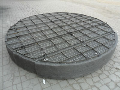 A demister pad on the ground.