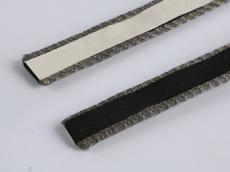 A foam are attached with double compressed knitted mesh gasket.