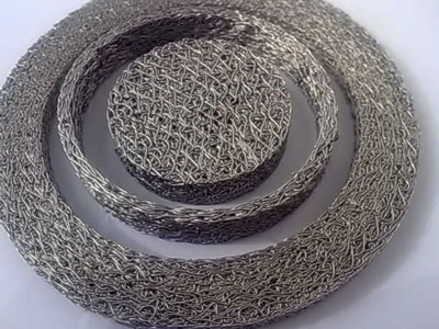 Three piece of SS304 Knitted mesh gasket