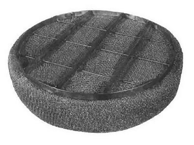 A demister pad is made of stainless steel knitted mesh and metal frame.